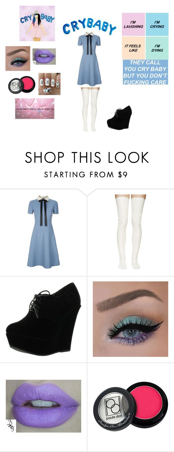 """""""Melanie Martinez inspired"""" by jay115-11 ❤ liked on Polyvore featuring Valentino, Sacai Luck, Forever Link, Paula Dorf, Nail Pop, women's clothing, women's fashion, women, female and woman"""