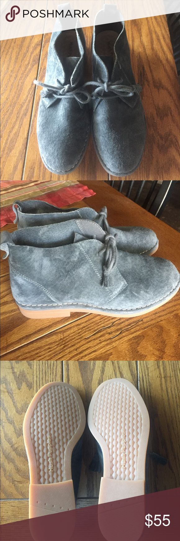"""Hush Puppies """"Cyra Catelyn"""" Chukka Boot Suede upper/leather and textile lining/rubber sole. Like new. Hush Puppies Shoes Ankle Boots & Booties"""