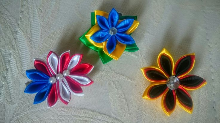 Fermacapelli kanzashi handmade
