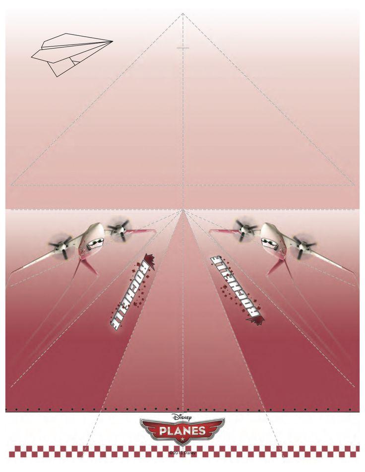 Disney Planes Printable Rochelle Paper Airplane Craft