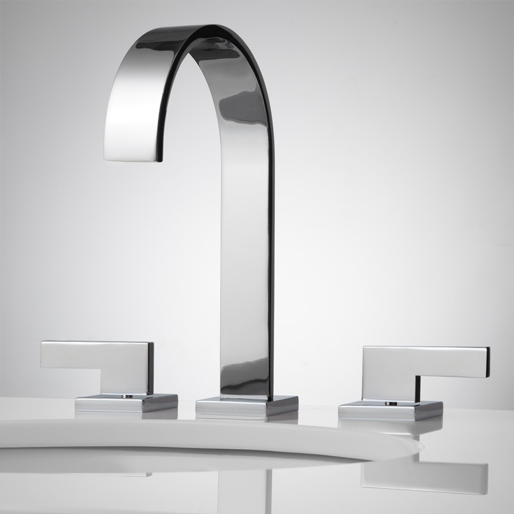 1000 images about faucets shower heads on pinterest chrome finish waterfall shower and - Ultra modern bathroom faucets ...