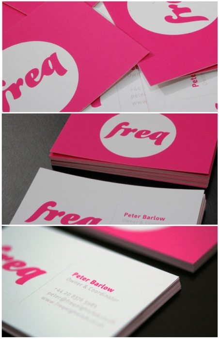 business card. contrast with colors