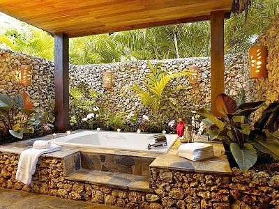 Once more into the outdoor bath