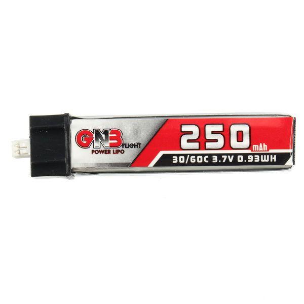 Batterie Lipo 5PCS GAONENG 3.7V 250mAh 1S 30C / 60C pour Blade Nano QX CPX et Tiny Whoop