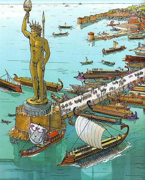 The Colossus at Rhodes ~ P. de Broche