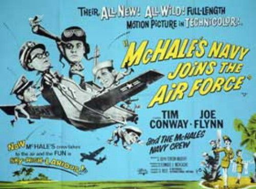 Mchale'S Navy Joins The Air Force Original Movie Poster Rare 30X40