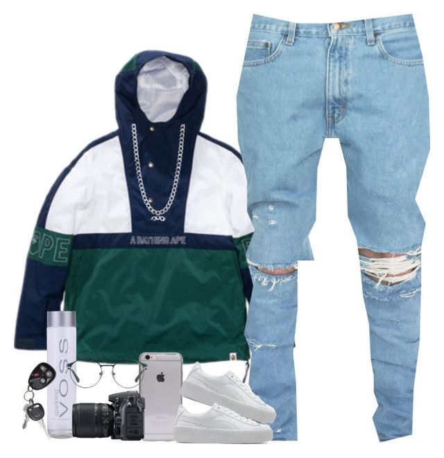 """"" by mxnvt ❤ liked on Polyvore featuring A BATHING APE, Puma, BERRICLE, Nikon and 3.1 Phillip Lim"