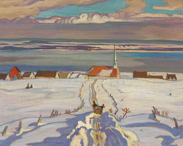A.Y. (Alexander Young) Jackson (1882-1974), Canadian / Winter, Quebec, 1926, oil on canvas / National Gallery of Canada, Ottawa, Ontario, Canada