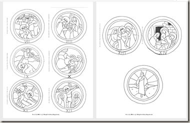 printable stations of the cross coloring pages - stations of the cross templates patterns pinterest