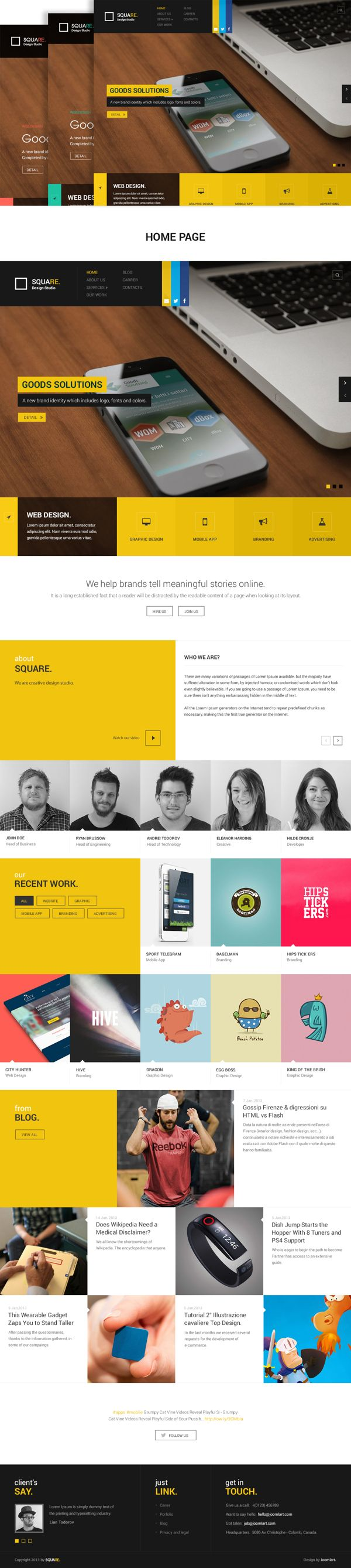 Web Portfolio by minh tho, via Behance