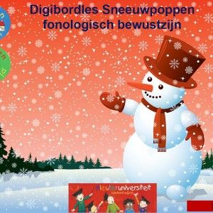Digibordles-sneeuwpoppen-fonologisch-bewustzijn In deze les oefen je met de kinderen op een speelse manier het rijmen en de auditieve synthese.