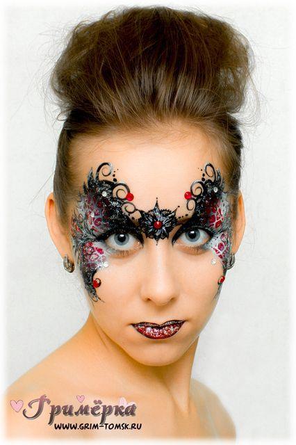 Аквагрим, грим, маска, узор, праздничный узор face painting, make-up, mask pattern, holiday pattern