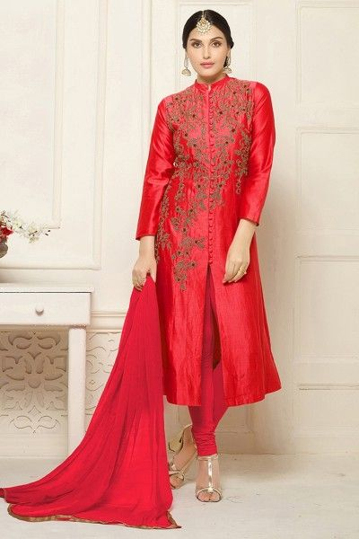 Buy designer indo western & salwar suit online shopping with lowest prices in india. #thankaronline #salwarsuit #designerdress #designerindowestern #designersalwarkameez #fashionableindowestern #wedding #festival