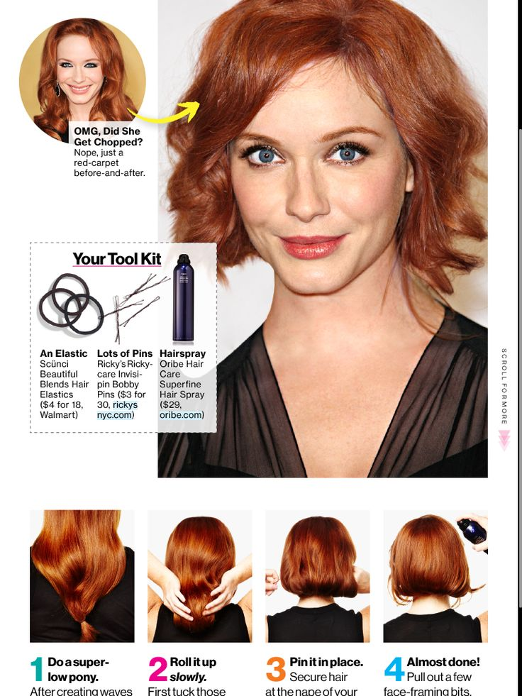 How to fake a bob, this is a fun idea... I love my long hair but love to be able to wear an up do!