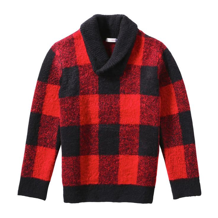 Kid Boys' Buffalo Check Sweater from Joe Fresh. Bold buffalo checks put a stylish spin on this cold weather classic.  Only $26.