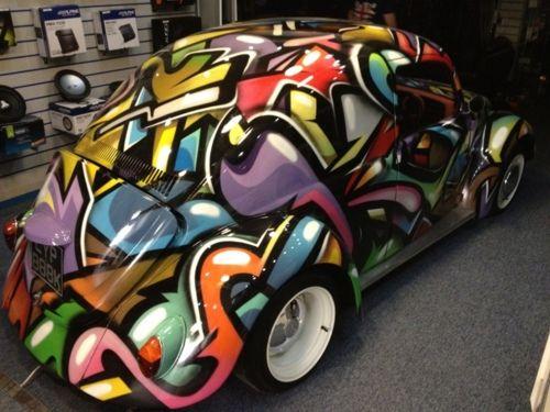 Tricked Out Vw Beetle Artsy Paint Job Das Vintage Vw