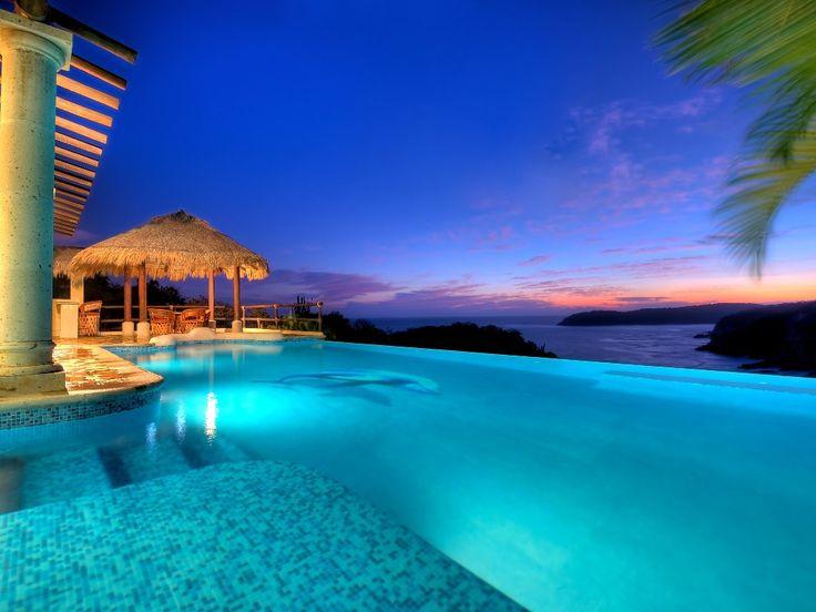 Aguas increíbles para nadar con aletas de tobillo  Huatulco Villa Rental: Oceanfront Villas With Secluded Beach, Las Palmas | HomeAway