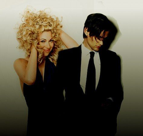 Alex Kingston and Matt Smith even though you can totally tell it's photoshopped I still like it.. :)