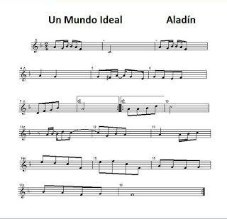 diegosax: A Whole new world Un Mundo Ideal de Aladín. Letra, acordes y partitura para flauta. BSO.