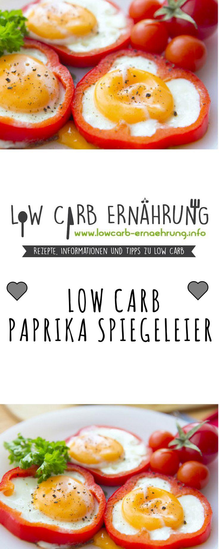 Low Carb Rezept für leckere, kohlenhydratarme Paprika-Spiegeleier. Low Carb und einfach und schnell zum Nachkochen. Perfekt zum Abnehmen.