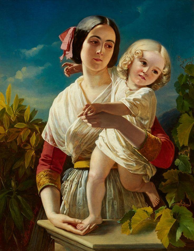 Richard L. Lauchert, Mutter mit Kind, Auktion 1083 Gemälde 15.-19