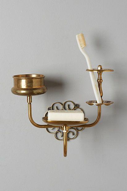 Brass Trinket Bath Caddy #anthropologie