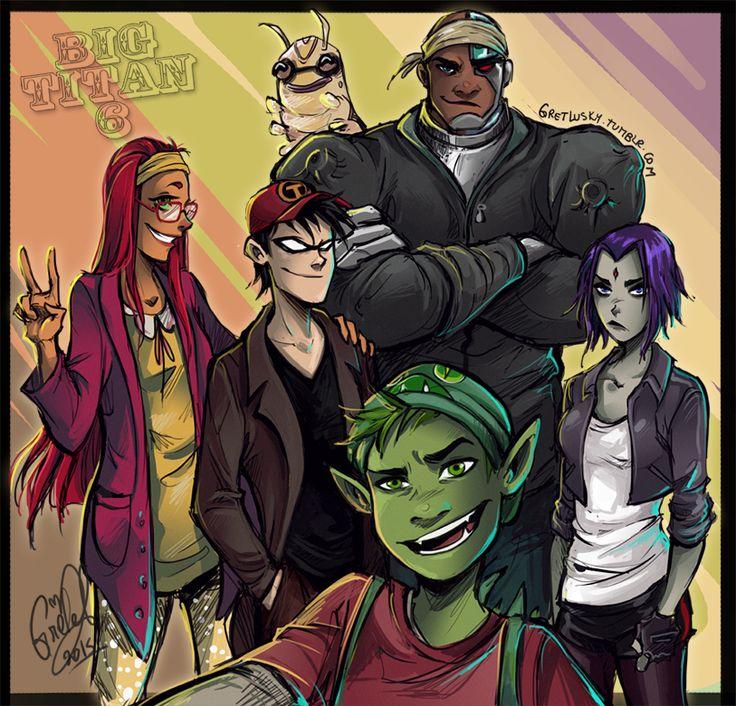 Todos los personajes de titanes adolescentes