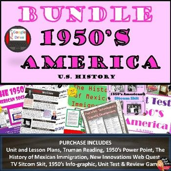 29216 best highschoolherd images on pinterest teaching ideas 1950s post world war ii american society bundle 16 day unit plan fandeluxe Images