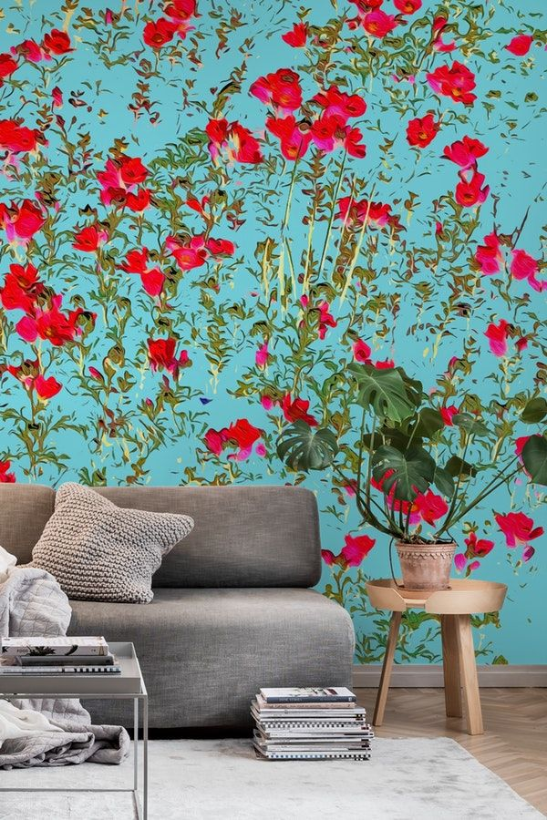 Not Enough Flowers Wall Mural Wall Murals Nature Wall Mural