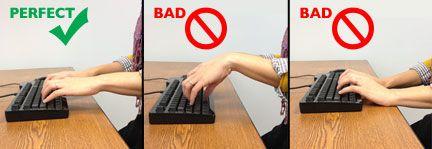 Proper Typing Posture | Desk Ergonomics for Improved ...