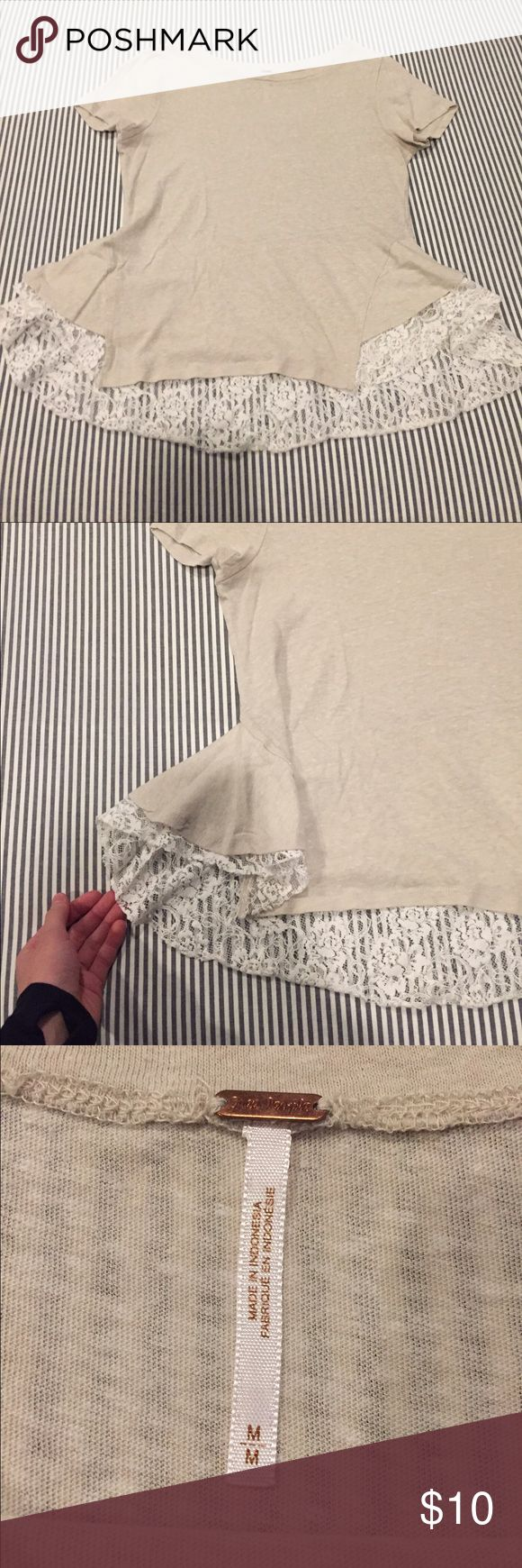 Free people lace top Free people cream lace top. Size medium. Free People Tops