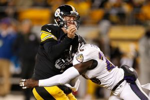 Ravens Upend Steelers 30-17 In AFC Wild Card   (Photo by Gregory Shamus/Getty Images)