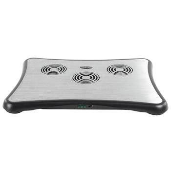 König Refroidisseur avec 3 ventilateurs pour ordinateur portable avec hub USB