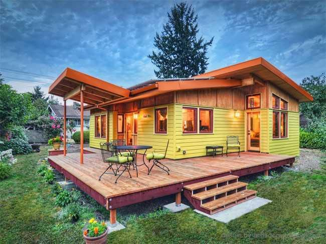 multi colored simple wooden house