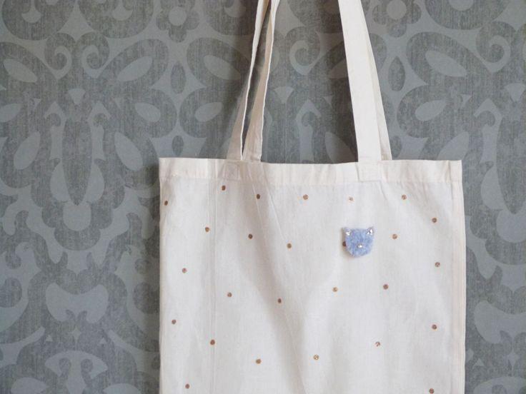 DIY Mode // Le Tote Bag à Pois // La Fabrique Pailletée ♡