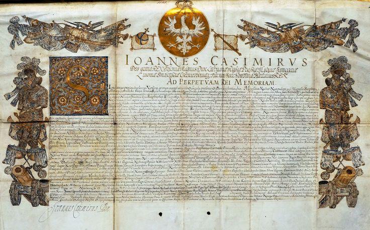 Act of granting to Stefan Czarniecki starostwo of Tykocin as hereditary land in reward for his merits during the war by Anonymous from Warsaw, June 13th 1661 (PD-art/old), Biblioteka Książąt Czartoryskich