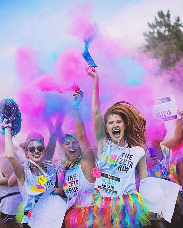 Color run Bid day Mississippi State 2016 Ready. Set. GO ZETA.