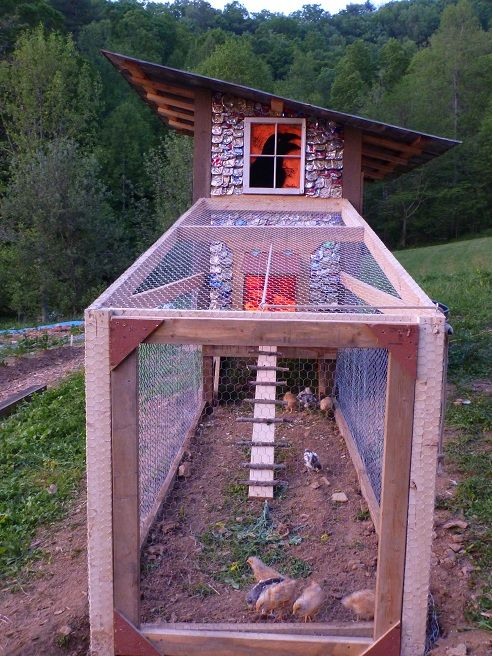 Homemade Chicken Coop with Beer Can Shingles Was Built in 10 Hours for $40 : TreeHugger