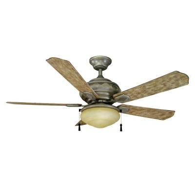 Hampton Bay Portsmouth 52 In. Outdoor Cambridge Silver Ceiling Fan.  Silberner DeckenventilatorVentilator ...