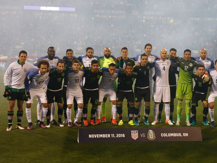 The United States and Mexico national teams made a pointed statement prior to kick-off in their World Cup qualifying clash on Friday night. Instead of posing for separate team photographs, as per convention, the two sets of players came together and mixed to form what many have interpreted as a 'unity wall'.