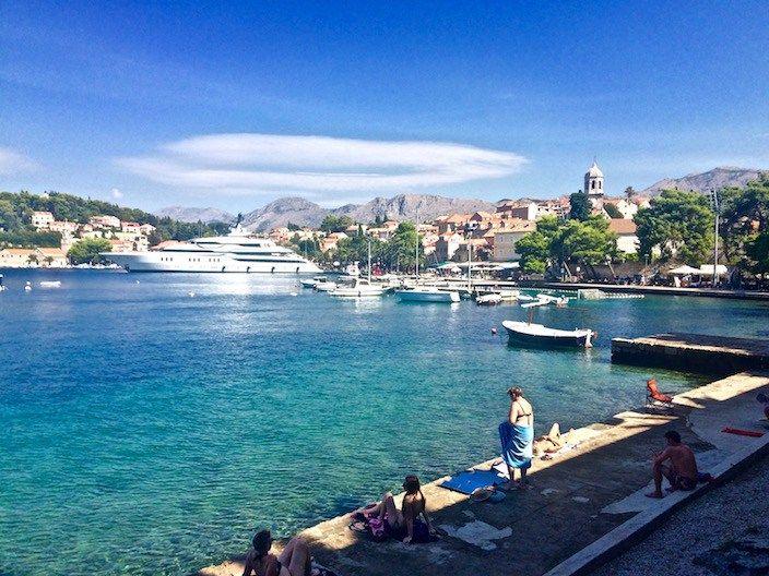 Swimming in Cavtat Croatia
