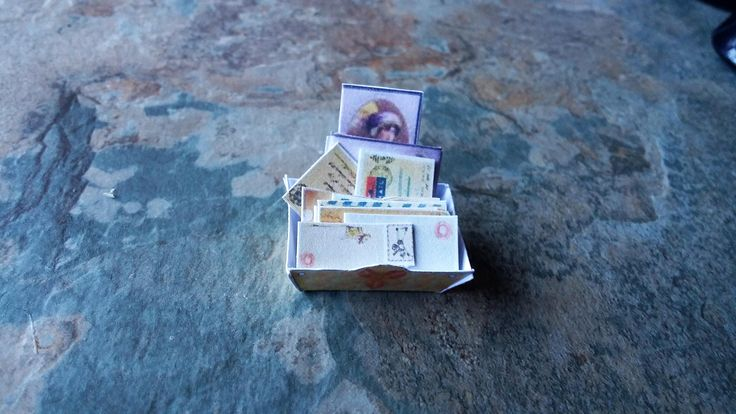 Dolls House, Basket of Letters, Dolls House Accessories, Miniature Letters,Dolls House Miniature Accessories,Miniatures,Miniatures Accessory by SpryHandcrafted on Etsy