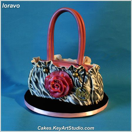 Pink and Black Michael Kors Bag/Purse Cake you should buy michael kors bags  to your girl friend