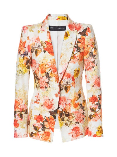 Can somebody buy this for me please?! PIQUÉ FLORAL BLAZER from Zara