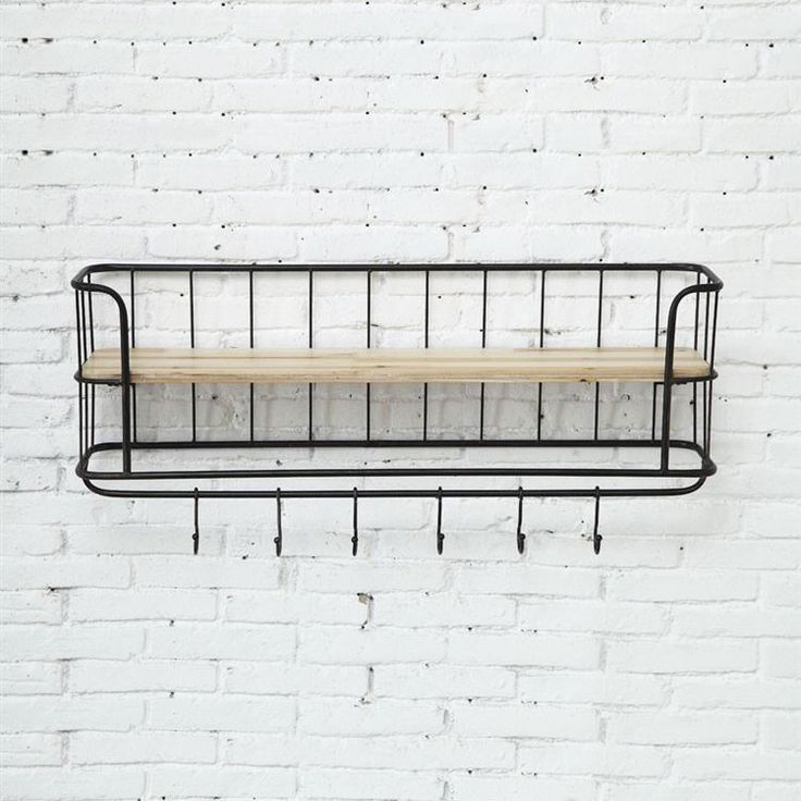 this shelving unit is the perfect marriage of metal and. Black Bedroom Furniture Sets. Home Design Ideas