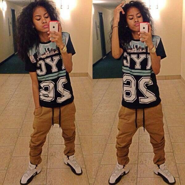 17 Best images about Tomboy Outfits on Pinterest   Urban fashion Pretty girl swag and Baggy shorts