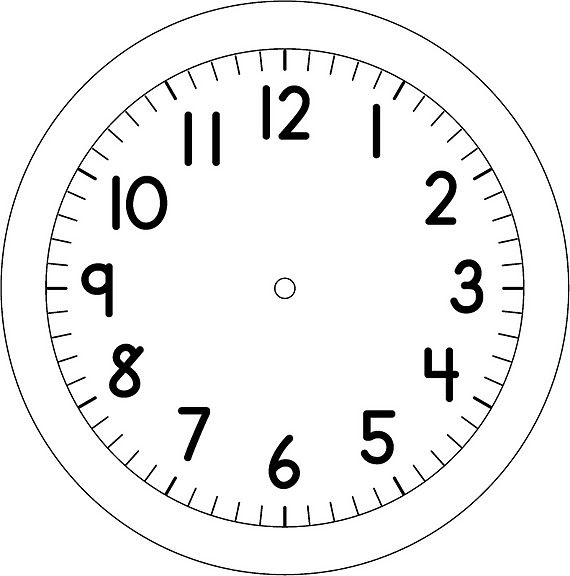 Reloj - Dibujalia - Dibujos para colorear - Profes ...