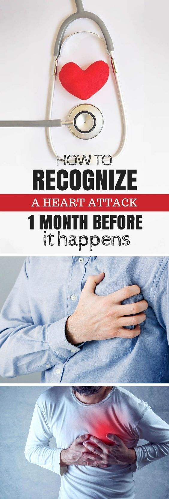HOW TO RECOGNIZE A HEART ATTACK ONE MONTH BEFORE IT HAPPENS