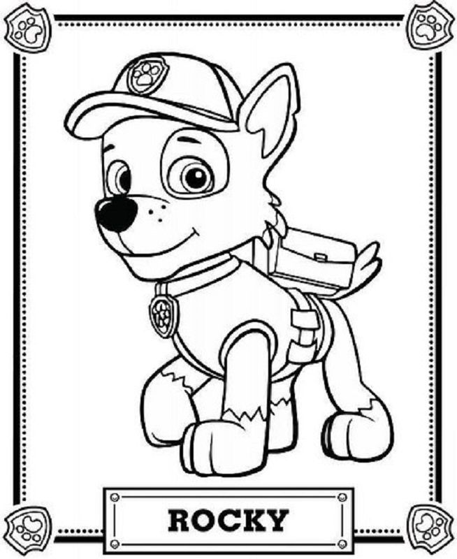 33 best Patrulla canina para colorear images on Pinterest
