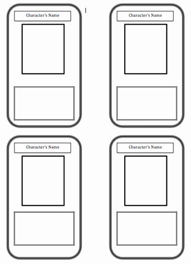 Blank Playing Card Template Unique Trading Card Template